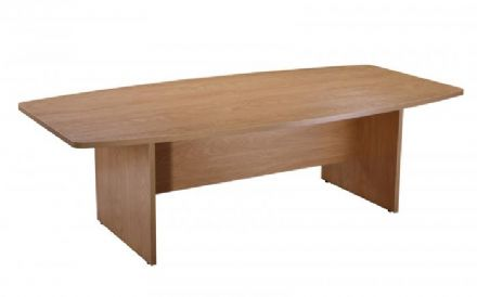 2400mm Crown Cut Oak Boardroom Meeting Table